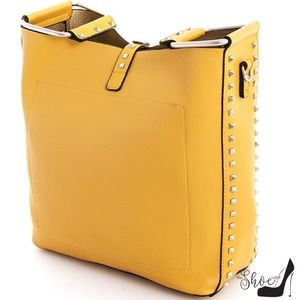 My Bag Lady Online Bags - Studded Bucket Bag in Honey Marigold